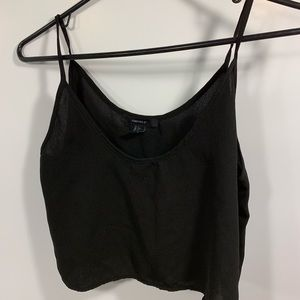 Black Crop Top, Tank Top, Forever21 size small